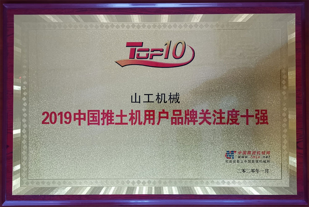 SEM Medal of 2019 China Top 10 Loader Customer Focused Brands